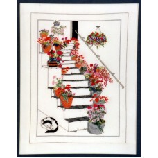 Floral Steps, St Ives Counted Cross Stitch Kit