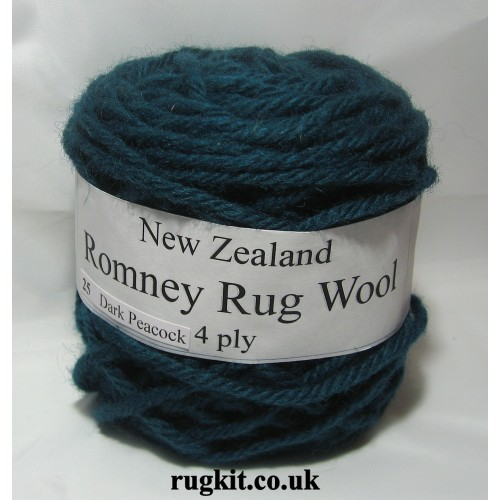 Romney rug wool 100g ball 25
