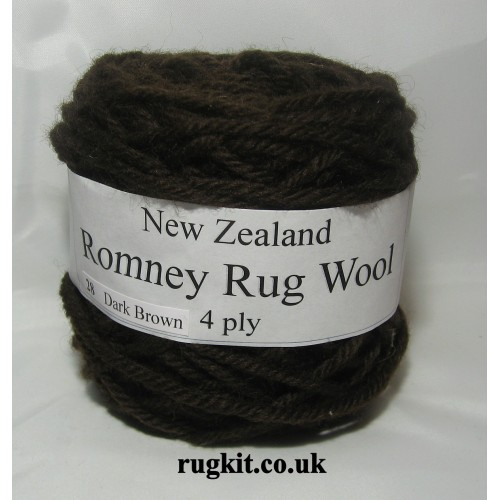 Romney rug wool 100g ball 28