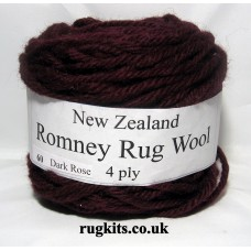 Romney rug wool 100g ball 60