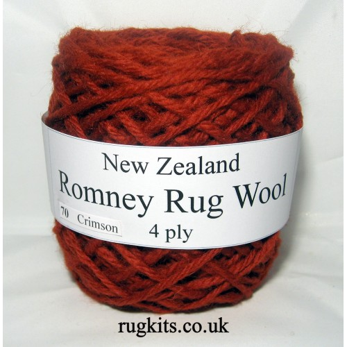 Romney rug wool 100g ball 70