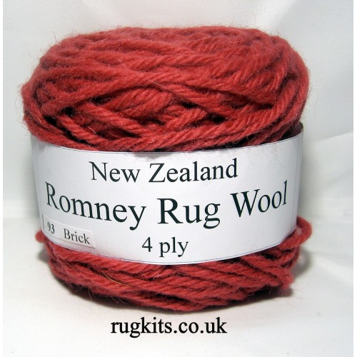 Romney rug wool 100g ball 93