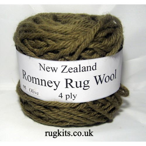 Romney rug wool 100g ball 95