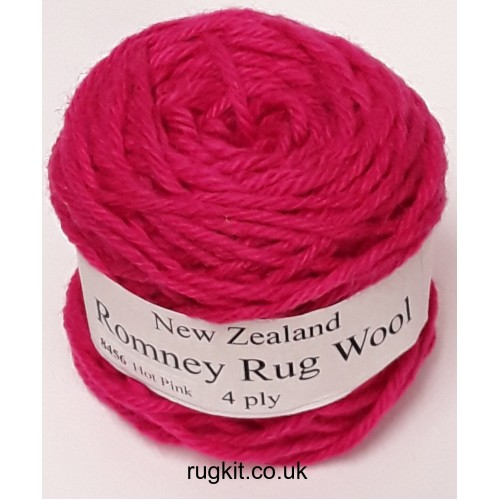 Romney rug wool 100g ball 8456