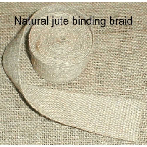 Jute binding braid