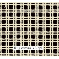 "Zweigart rug canvas in single pieces (3.3hpi) 24""x51"""