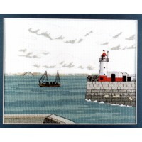 Rosebud Leaves Newlyn Counted Cross Stitch Kit