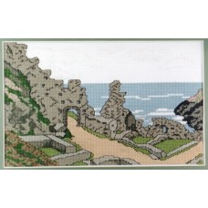Tintagel Castle Counted Cross Stitch Kit