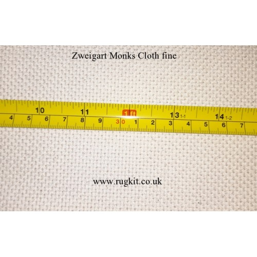 Zweigart Monks Cloth 140cm wide 13 count