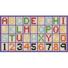 Alphabet latch hook rug kit