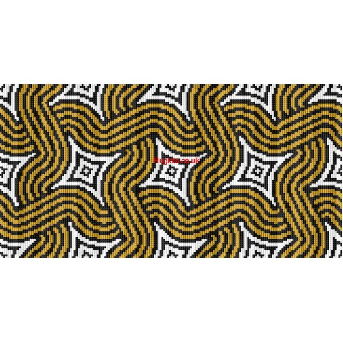 Art Deco Waves rug kit