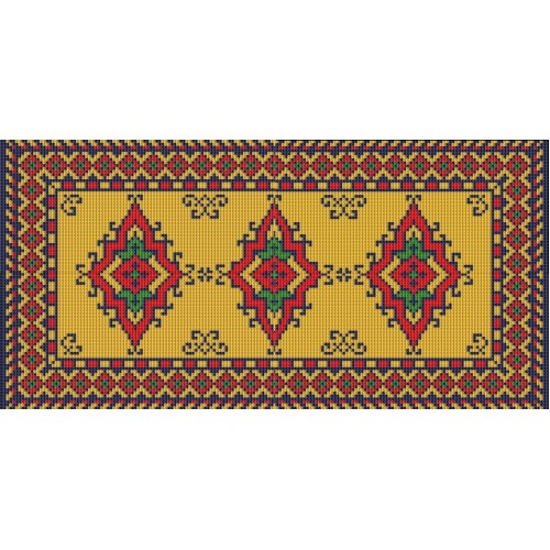 India latch hook rug kit
