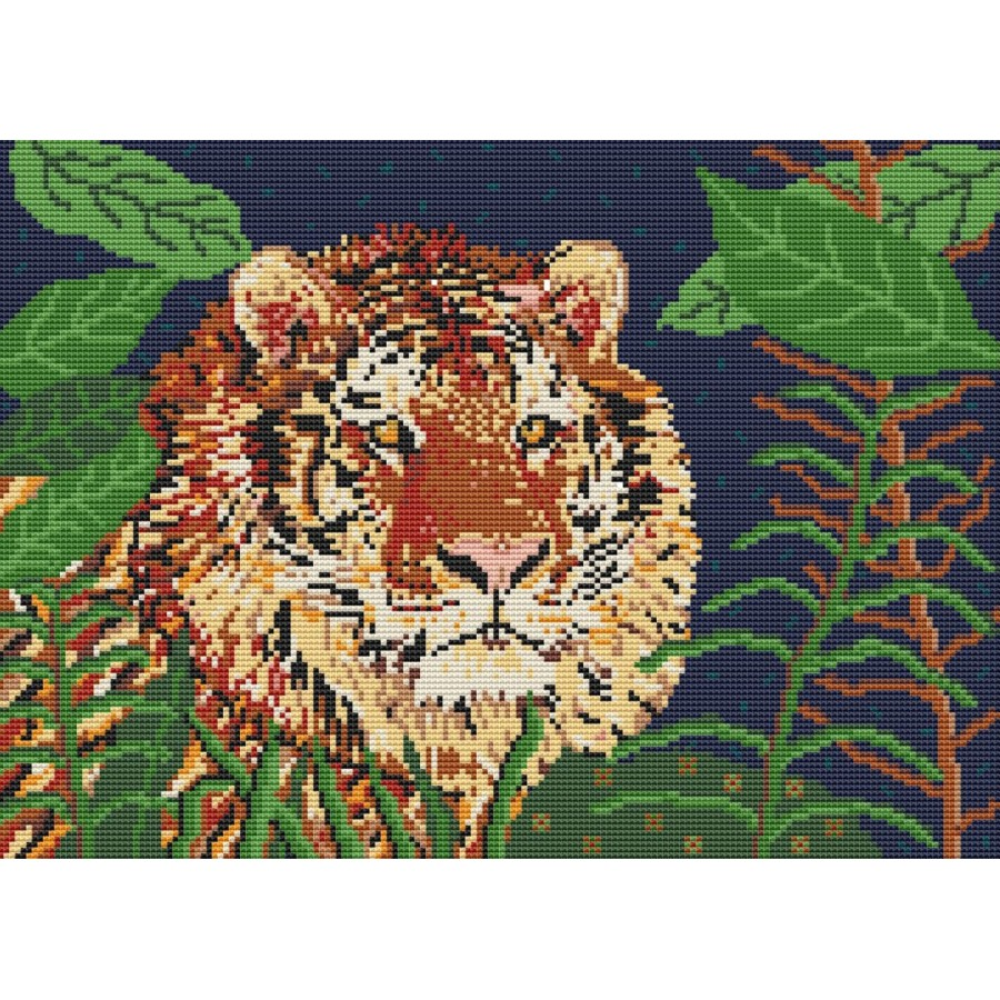 Jungle Tiger Latch Hook Rug Kit In Pure Wool
