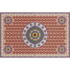 Lotus Flower latch hook rug kit