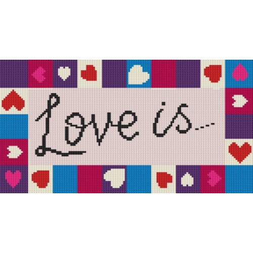 Love Hearts rug kit