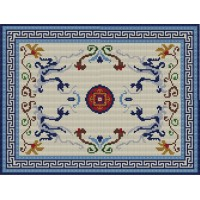 Oriental Dragons latch hook rug kit