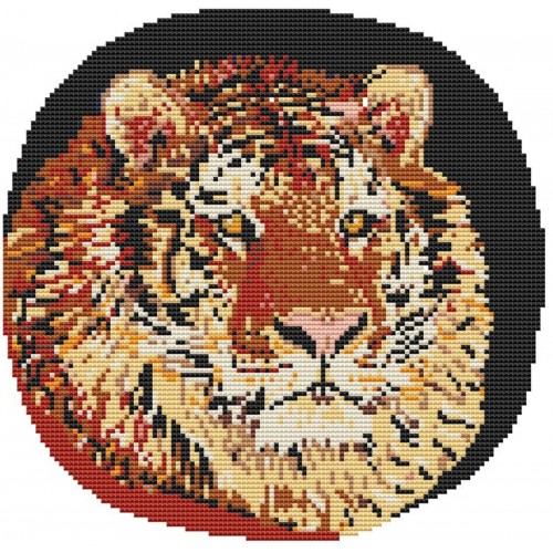 Siberian Tiger Latch Hook Rug Kit In Pure Wool