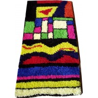 Abstract latch hook rug kit
