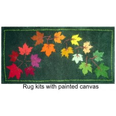 Autumn leaves latch hook rug kit