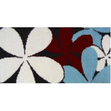 Blue flower latch hook rug kit