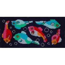 Art Deco Fish rug kit