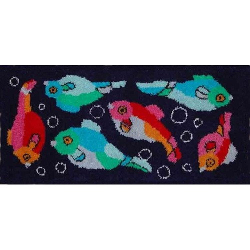 Art Deco Fish latch hook rug kit