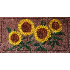 Golden Sunflowers rug kit