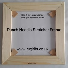 Punch needle and Rag rug stretcher frame 30cm
