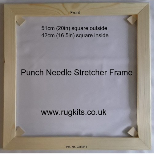 Punch needle and Rag rug stretcher frame 51cm